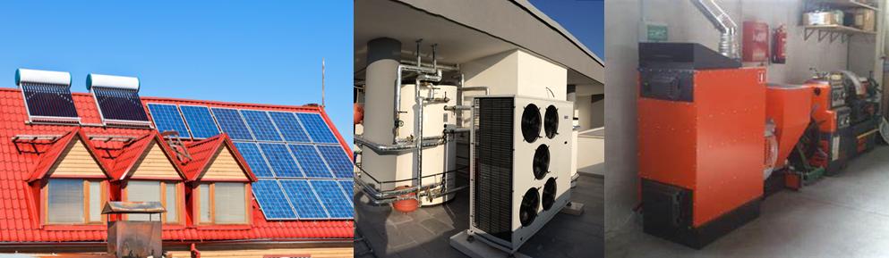 Fotovoltaico, pompe di calore, generatori a biomassa