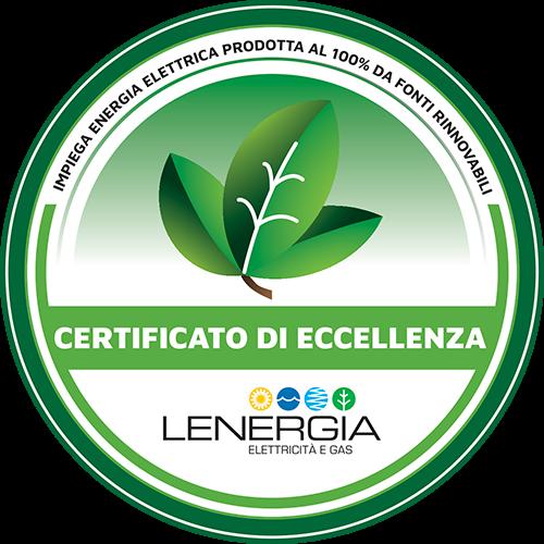 Certificato Eccellenza Lenergia