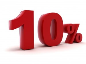 10 percento